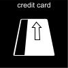 credit card Pictogram