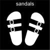 sandals Pictogram