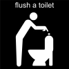 flush a toilet Pictogram