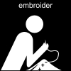 embroider Pictogram