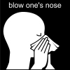 blow one's nose Pictogram