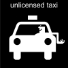 unlicensed taxi Pictogram