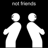 not friends Pictogram