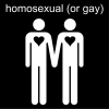 homosexual (or gay) Pictogram