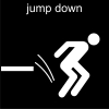jump down Pictogram