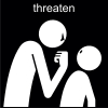 threaten Pictogram