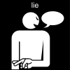 lie Pictogram