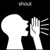 shout Pictogram