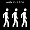 walk in a line Pictogram