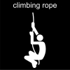 climbing rope Pictogram