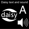Daisy text and sound Pictogram