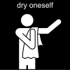 dry oneself Pictogram