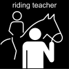 riding teacher Pictogram