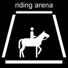 riding arena Pictogram