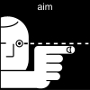 aim Pictogram