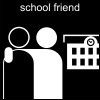 school friend Pictogram