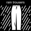 rain trousers Pictogram