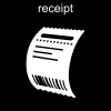 receipt Pictogram