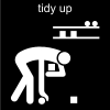 tidy up Pictogram
