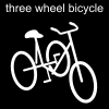 three wheel bicycle Pictogram