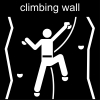 climbing wall Pictogram
