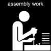 assembly work Pictogram