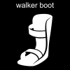walker boot Pictogram