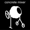 concrete mixer Pictogram