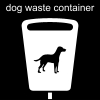 dog waste container Pictogram
