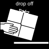 drop off Pictogram