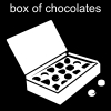 box of chocolates Pictogram