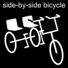 side-by-side bicycle Pictogram