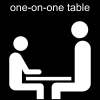 one-on-one table Pictogram