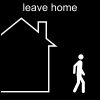 leave home Pictogram