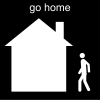 go home Pictogram