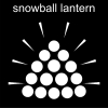 snowball lantern Pictogram