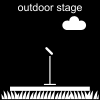 outdoor stage Pictogram