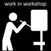 work in workshop Pictogram