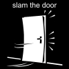 slam the door Pictogram