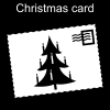 Christmas card Pictogram