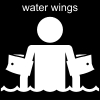 water wings Pictogram