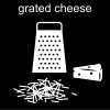 grated cheese Pictogram