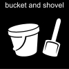 bucket and shovel Pictogram