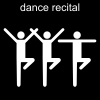 dance recital Pictogram