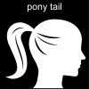 pony tail Pictogram