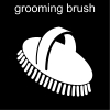 grooming brush Pictogram