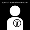special education teacher Pictogram