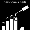 paint one's nails Pictogram