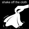 shake off the cloth Pictogram