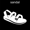 sandal Pictogram